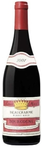 Louis Max Beaucharme Bourgogne Pinot Noir 2007, Ac Bottle