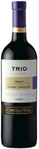 Concha Y Toro Trio Reserva Merlot/Carmenère/Cabernet Sauvignon 2008, Rapel Valley Bottle