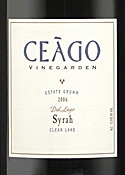 Ceàgo Vinegarden Del Lago Syrah 2006 Bottle