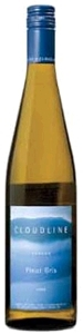 Cloudline Cellars Pinot Gris 2008, Oregon Bottle