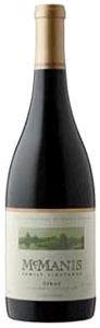Mcmanis Family Vineyards Syrah 2008, California Bottle
