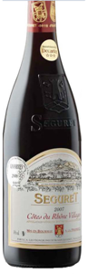 Vignerons De Roaix Séguret Côtes Du Rhône Villages 2007 Bottle