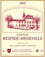 Château Respide Medeville 2005, Graves Aoc Bottle