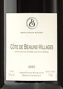 Jean Claude Boisset Côte De Beaune Villages 2005 Bottle