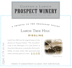 Prospect Larch Tree Hill Riesling 2008 Bottle