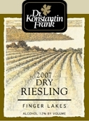 Dr. Konstantin Frank's Vinifera Cellars Riesling Dry 2007, New York, Finger Lakes Bottle