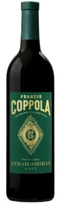 Francis Coppola Diamond Collection Green Label Syrah Shiraz 2007, California Bottle