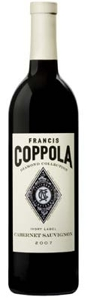 Francis Coppola Diamond Collection Ivory Label Cabernet Sauvignon 2007, California Bottle