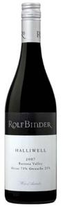 Rolf Binder Halliwell Shiraz/Grenache 2007, Barossa Valley, South Australia Bottle