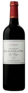 Château Rouquette Sur Mer Cuvée Amarante 2007, Ac Côteaux Du Languedoc La Clape Bottle