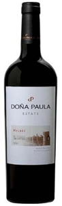Doña Paula Estate Malbec 2008, Mendoza Bottle