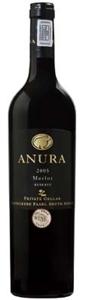 Anura Reserve Merlot 2005, Wo Coastal Region Bottle