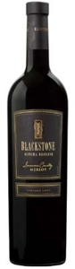 Blackstone Reserve Merlot 2007, Sonoma County Bottle