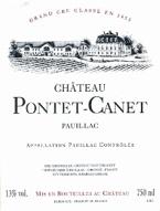 Chateau Pontet Canet 2002 Bottle