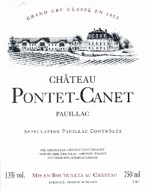 Chateau Pontet Canet 2004 Bottle