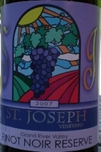 St. Joseph Pinot Noir Reserve 2006 Bottle