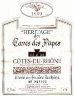 Heritage Des Caves Des Papes Cotes Du Rhone 2002 Bottle