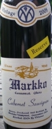 Markko Vineyard Cabernet Sauvignon Reserve 2004 Bottle