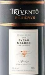 Trivento Syrah Malbec Reserve 2005 Bottle