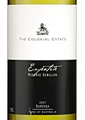 The Colonial Estate Expatrie Reserve Semillon 2007, Barossa, South Australia Bottle