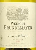 Weingut Bründlmayer Alte Reben Reserve Grüner Veltliner 2010 Bottle