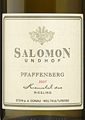Salomon Undhof Pfaffenberg Riesling 2007, Kremstal Bottle