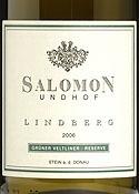 Salomon Undof Linberg Grüner Veltliner Reserve 2006, Krems Stein Bottle