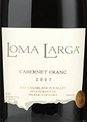 Loma Larga Cabernet Franc 2007, Casablanca Valley Bottle