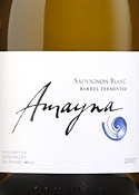 Garcés Silva Amayna Barrel Fermented Sauvignon Blanc 2007, Leyda Valley Bottle