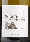 Château De Varennes Savennières 2004, Ac Bottle