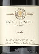 Les Vins De Vienne L'arzelle Saint Joseph 2006, Ac Bottle