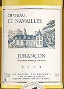 Château De Navailles Jurançon 2003, Ac Bottle
