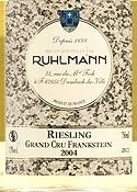 Ruhlman Frankstein Riesling 2004, Ac Alsace Grand Cru Bottle