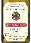 Zeyssolff Zotzenberg Riesling 2002, Ac Alsace Bottle