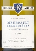 Domaine Ballot Millot & Fils Genevrières Meursault 1er Cru 2006, Ac, 1er Cru Bottle