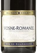 Maison Champy Vosne Romanée 2006, Ac Bottle