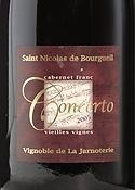 Vignobles De La Jarnoterie Cuvée Concerto Vieilles Vignes Cabernet Franc 2005, Ac St. Nicolas De Bourgueil Bottle