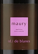 Domaine De Blanes Maury 2006, Ac Bottle