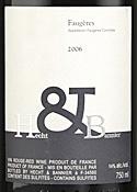 Hecht & Bannier Faugères 2006, Ac Bottle