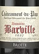 Domaine Barville Châteauneuf Du Pape 2007, Ac Bottle
