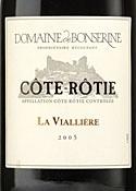Domaine De Bonserine Côte Rotie La Viallière 2005 Bottle