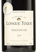 Domaine De Longue Toque Gigondas 2006, Ac Bottle