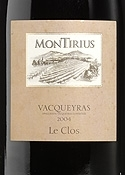 Montirius Vacqueyras Le Clos 2004, Ac Bottle