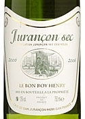 Le Bon Roy Henry Jurançon Sec 2006, Ac Bottle