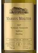 Markus Molitor Riesling Spätlese 2007, Qmp, Wehlener Sonnenuhr, Estate Btld. Bottle