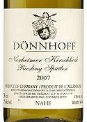 Dönnhoff Riesling Spätlese 2007, Qmp, Nordheimer Kirschheck Bottle