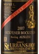 St. Urbans Hof Ockfener Bockstein Riesling Auslese 2007 Bottle