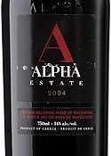 Alpha Estate Red 2004, Regional Wine Of Macedonia, Amyndeon Bottle