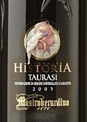 Mastroberardino Naturalis Historia Taurasi 2003, Docg Bottle