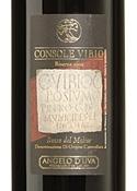 Angelo D'uva Console Vibio Riserva Rosso Del Molise 2004, Doc Bottle